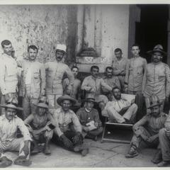 Spanish prisoners at Manila, 1898-1899