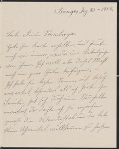 [Letter from A. Maria Koehler to Franziska Sternberger, December 23, 1918]