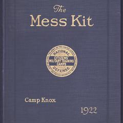 The mess kit : Fifth Corps Area, Camp Knox, Kentucky