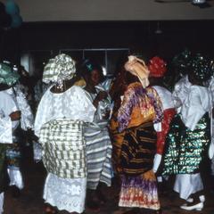 Women at Mrs. Abe's chieftaincy celebration