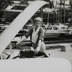 American Motors Corporation factory employee at work