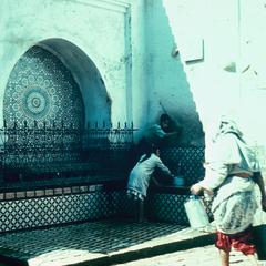 The Najjarine Fountain in the Medina (Old City) in Fez