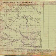 [Public Land Survey System map: Wisconsin Township 33 North, Range 20 East]