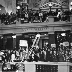 McGovern-Shriver rally, State Capitol building