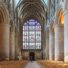 Gloucester Cathedral nave looking west