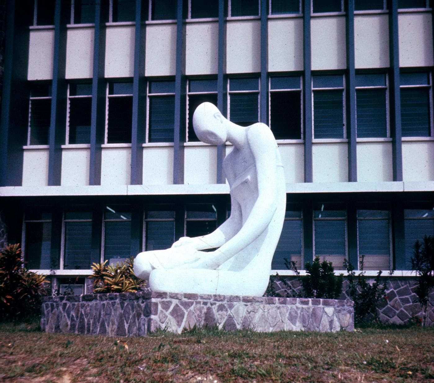 Sculpture on University of Kinshasa Campus
