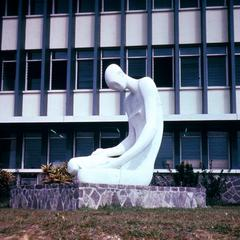 Sculpture on University of Kinshasa Campus