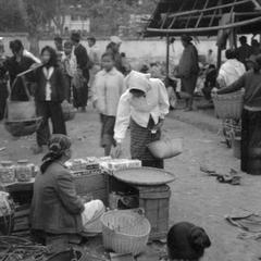 Woman making purchase