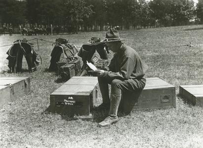 Man sitting at Camp Douglas