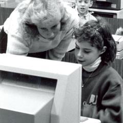 Teacher Education student, Kathleen Maurytoid, with young students