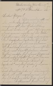 [Letter from Hannah Sternberger to her father, Jakob Sternberger, December 17, 1885]