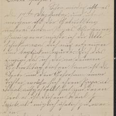 [Letter from Hannah Sternberger to her father, Jakob Sternberger, December 17, 1885]