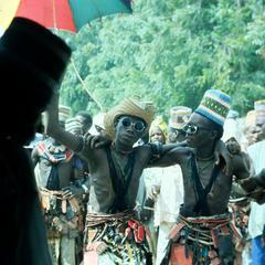 Fulbe Men at a Sharo Match in Kawari