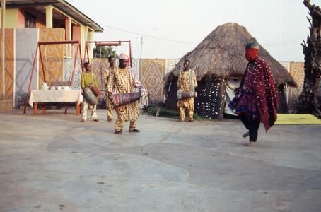 Drummers and performer at masquerade