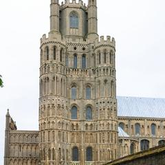 Ely Cathedral south side of southwest transept tower