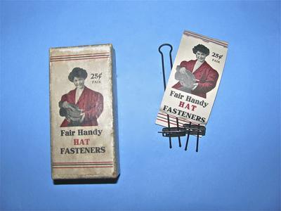 Fair Handy hat fasteners