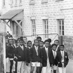 Boys at Elite Boarding School in Freetown