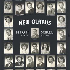 1947 New Glarus High School graduating class
