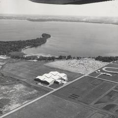 Aerial of Nielsen Tennis Stadium