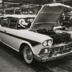 American Motors Corporation Rambler Rebel on the assembly line