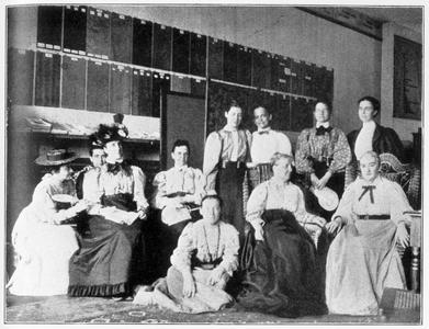 Early home economics leaders including Helen Campbell and Ellen Richards