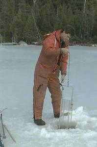 Winter water sampling North Temperate Lakes Long Term Ecological Research (LTER) (11)