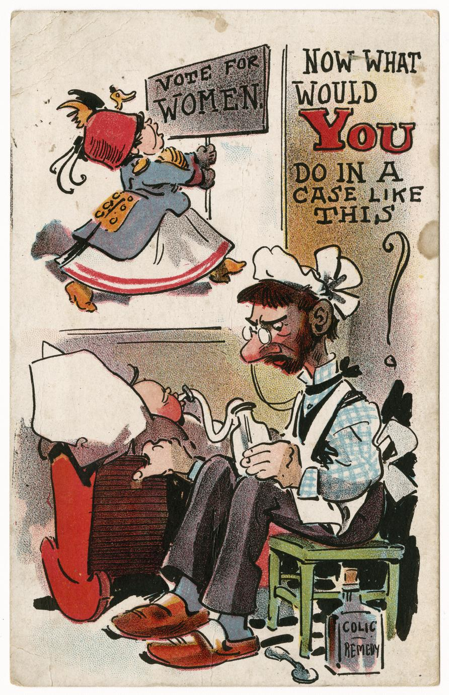 What would you do in a case like this, suffrage postcard
