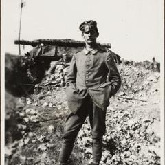 Jakob Kessner von den Unterstand in der Ornesschluct bei Verdun