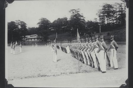 Cadets stand at attention ready for review at the Philippine Military Academy