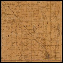 Bloomfield Township plat map, 1857