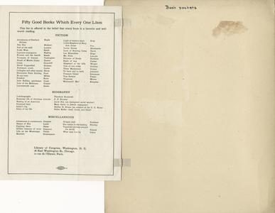 Page 5 - A.L.A. lists used in camp library work