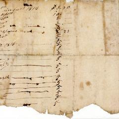 Account entries, 1815-1816