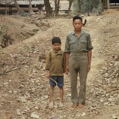 Lao man and son