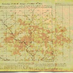 [Public Land Survey System map: Wisconsin Township 12 North, Range 01 East]