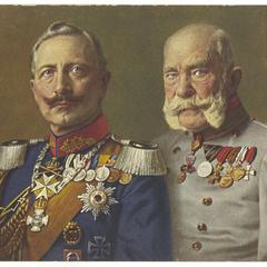 Double portrait of Emperors Wilhelm II and Franz Josef