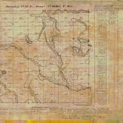 [Public Land Survey System map: Wisconsin Township 34 North, Range 20 East]