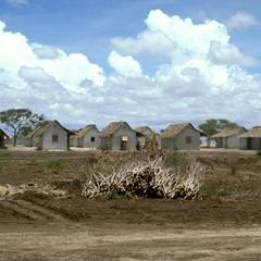 Housing Built for Drought Victims