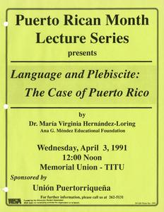 Poster for 1991 Puerto Rican Month Lecture Series