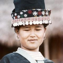 A White Hmong woman in the village of Nam Phet in Houa Khong Province