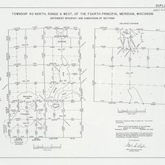[Public Land Survey System map: Wisconsin Township 40 North, Range 06 West]