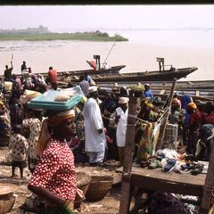 Lokoja market on water
