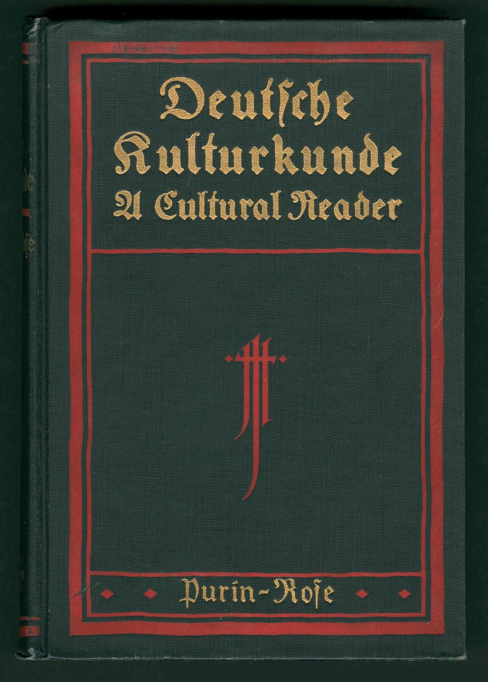 Deutsche kulturkunde : a cultural reader (1 of 3)
