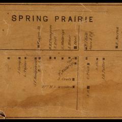 Spring Prairie, map
