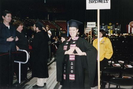 Female student at 2005 graduation