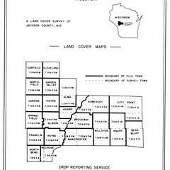 Jackson County, Wisconsin, land cover maps