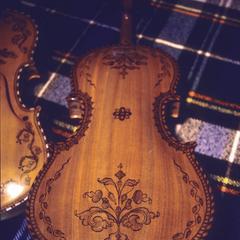 Norwegian hardanger fiddle detail