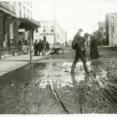 Main Street (Sixth Avenue) mud puddle