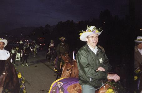 Chief Mike Dombeck and other members of the Forest Service ride in the Rose Parade
