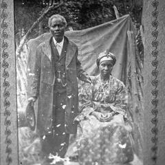 Photo of Krio Couple Wearing Typical Krio Dress, Circa 1900
