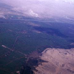 Aerial View Showing Meeting of Desert and Agricultural Land